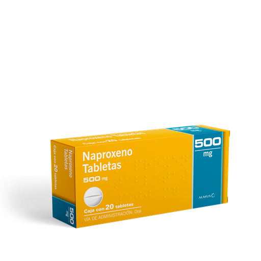 Naproxeno 20 Tabletas (500 mg)