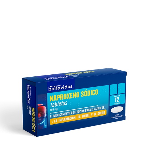 Naproxeno Sódico 12 Tabletas (550 mg)