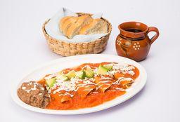 Enchiladas Verdes o Rojas de Pollo