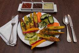 Pakoras Chicken Seekh Kebab