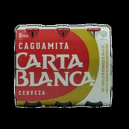 Cerveza Caguamita- Carta Blanca - Pack X6 Botellas 300 mL