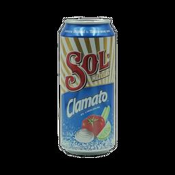 Clamato Cerveza Sol  Latón