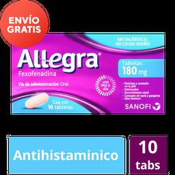 Allegra Antihistamínico de 180 Mg