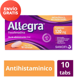 Allegra Antihistamínico de 120 Mg