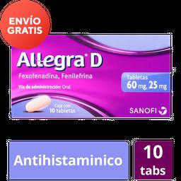 Allegra D 60/ 25 Mg Antihistaminico