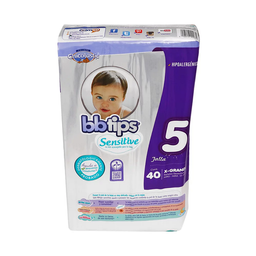Pañal Bbtips Talla 5 Sensitive Extra Grande 40 U