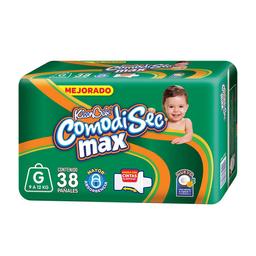 Pañal KleenBebé ComodiSec Max Talla Grande 38 U