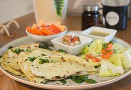 Sincronizadas de Champiñón y Queso con Tortillas de Nopal