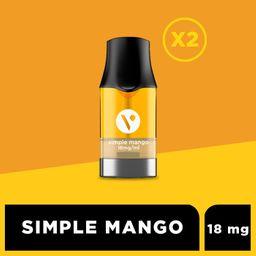 Cartucho para ePod - Simple Mango 18 mg/mL 2 U