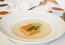 Sopa de Pan y Pollo