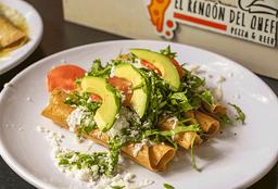 Tacos Dorados de Pollo o Res