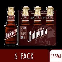 Cerveza Obscura 6 Pack - Bohemia - Caja 355 Ml