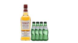 Combo Whisky Dewar's White Label + 4 Agua Mineral Pedras