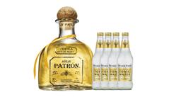 Combo Tequila Patrón Añejo + 4 Agua Tónica Fever Tree