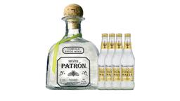 Combo Tequila Patrón Silver + 4 Agua Tónica Fever Tree