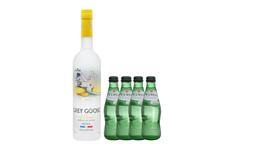 Combo Vodka Grey Goose L'Citron + 4 Agua Mineral Pedras