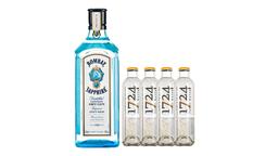 Gin Bombay + 4 Agua Tónica 1724
