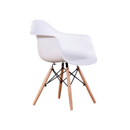 Silla Woody Arm de Abs y Madera-Blanco 1 U