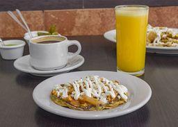 Desayuno Sope con Un Guisado