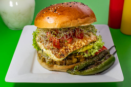 Hamburguesa Vegetariana Adobera