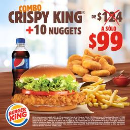Combo Crispy King + 10 Nuggets