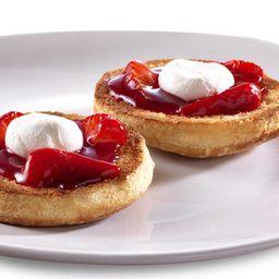 Bísquets con queso crema y fresa natural