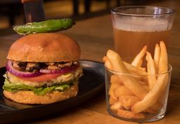 Burger Champi con Cerveza ó Coca-Cola