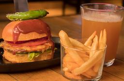 Bbq Burger con Cerveza ó Coca-Cola