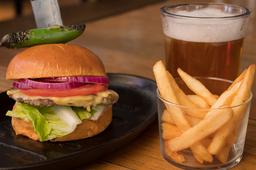 I Burger con Cerveza ó Coca-Cola