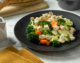 Verduras Al Vapor con Pollo