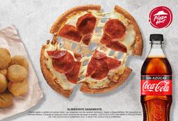 Pan Pizza Personal + Refresco 600 ml + Media Orden de Quepapas