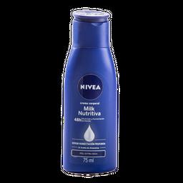 Crema Corporal Milk Nutritiva - Nivea - Tarro 75 Ml