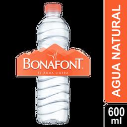 Agua Natural - Bonafont - Botella 600 Ml