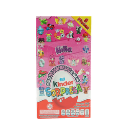 Huevito De Chocolate Niña Kinder Sorpresa Display X8 U 20 G