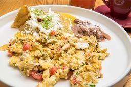 Huevos a la Mexicana con Chilquiles