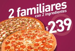 Promo 2 Pizzas Familiares