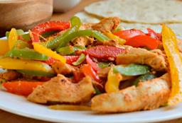 Menú Completo con Fajitas de Pollo