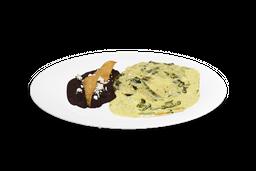 Menú Completo con Rajas con Crema