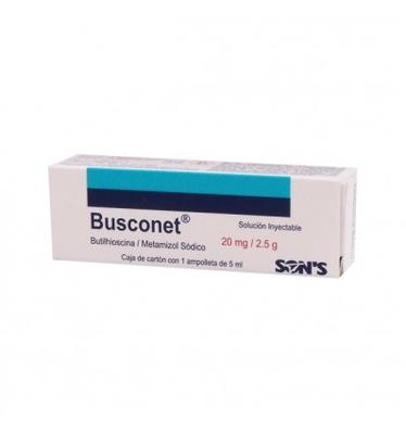 Comprar Butilhioscina 20 mg Metamizol SóDico 2.5 G Busconet 1 Ampolleta