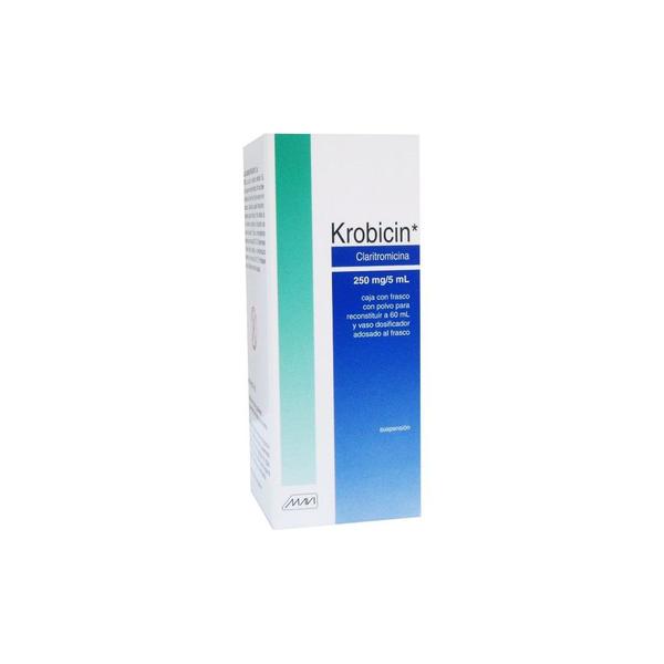 Comprar Claritromicina 250mg/5mL mg Krobicin 60 Suspensión Frasco