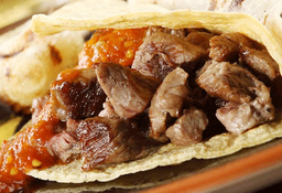 Tacos de Chicharrón Rib Eye