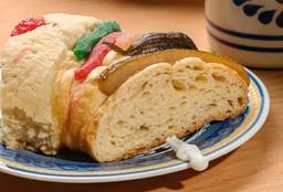 Rebanada de Rosca de Reyes