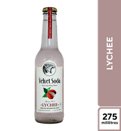 Velvet Soda de  Lychee  275 ml