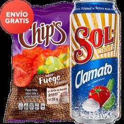 Rappicombo Sol Clamato + Chips Fuego