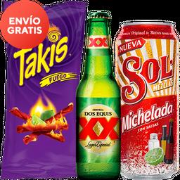 Rappicombo Sol Michelada + Takis Fuego
