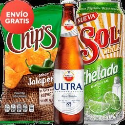 Rappicombo Sol Chelada + Chips Fuego