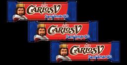 3 Carlos V Chocol Amargo 20 g