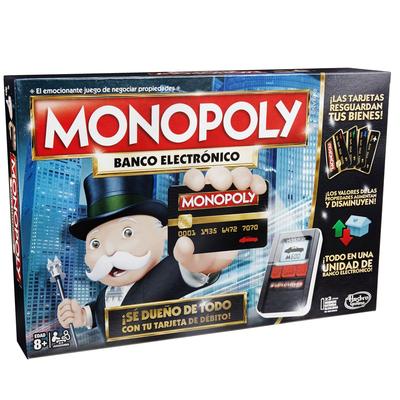 Monopoly Juego De Mesa Hasbro Banco Electronico