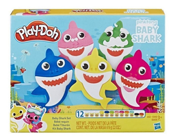 Set de Masa Play Doh Baby Shark 12 U