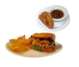 Sándwich Pollo Caramelizado + Empanada ¡Gratis!